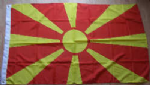 Macedonia Large Country Flag - 3' x 2'.
